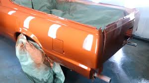 lil matt u0027s orange 1981 el camino sprayed at sudamar u0027s new finish