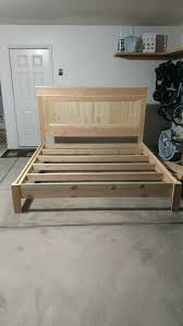 Diy King Platform Bed Frame by Best 25 Diy King Bed Frame Ideas On Pinterest King Bed Frame