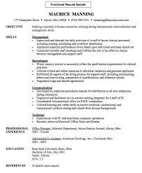 sample functional resume chrono functional resume sample chrono