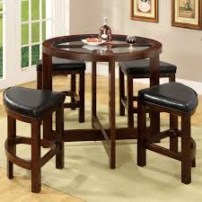 How Tall Is A Dining Room Table Winners Only Zahara Round Counter Height Dining Table With Granite