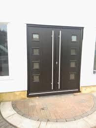 B Q Door Handles Interior by Exterior Design Simple Black Composite Front Door Design With