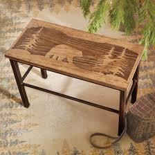 scenic bear wood u0026 metal bench