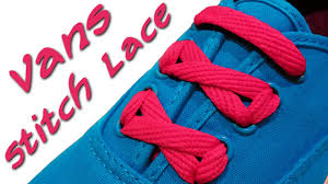 shoelace pattern for vans how to stitch lace your vans youtube