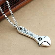 silver skull chain necklace images Men 39 s sterling silver skull wrench necklace jpg