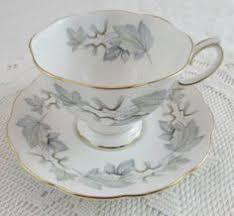 royal albert blue tea cup and saucer with blue flowers vintage