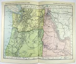 Map Of Washington And Oregon by Original 1898 Railroad Map Of Washington Oregon And Idaho