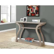 Accent Table L Monarch Specialties Cappuccino Console Table I 2445 The Home Depot