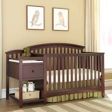 crib with changing table burlington westwood montville crib changing table in chocolate amazing cribs
