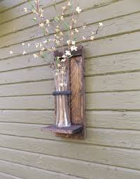 Vase Wall Sconce Wood Wall Sconce Rustic Wall Sconce Wall Vase Sconce Vase