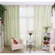 Light Green Curtains Decor Country Style Door Wall Curtains In Light Green Color With Flowers