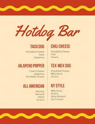 snack bar menu template bar menu templates canva