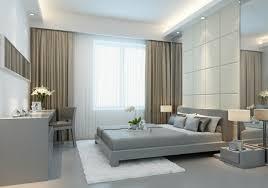 chambre sol gris decoration interieur avec 5 rideau ocultant beige