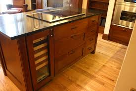 kitchen islands with cooktop wine cooler induction cooktop and custom island