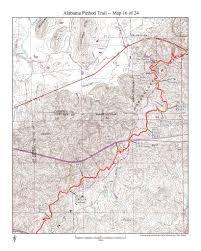 Map Alabama Alabama Pinhoti Trail Maplets