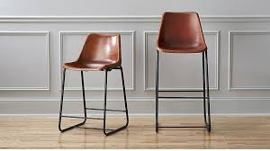 Crate And Barrel Bar Stool Roadhouse Leather Bar Stools Cb2