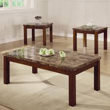 arden 3 piece marble look top coffee end table set coffee table