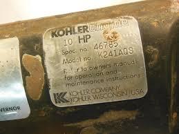 kohler 10hp john deere 210 k241 k241aqs bearing closure plate good