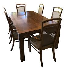 vintage drexel heritage woodbriar dining set chairish