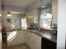 Cottage Kitchen Curtains by Cottage Kitchen With Limestone Tile Floors U0026 L Shaped In Webster