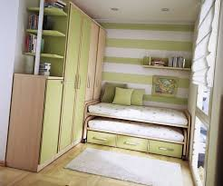 Small Teen Room Ideas Design  Green Colored Wall Stripes And - Designs for small bedrooms for teenagers