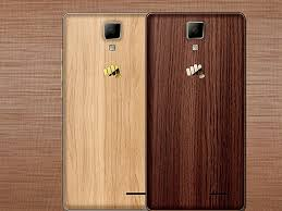 wood canvas micromax canvas 5 lite special edition with wood finish rear panel