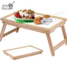 Folding Bed Tray Breakfast Bed Tray Folding Serving Table Wooden Lap Desk Tv Snack