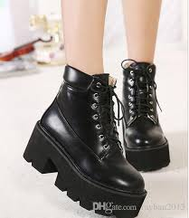 womens combat boots australia fashion add plush combat boots winter boots black leather