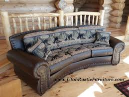 Custom Leather Sofas Bradley U0027s Furniture Etc Rustic Leather Couch Collections