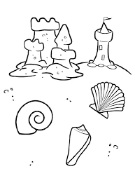 summer vacation coloring pages 27 best coloriage theme plage images on pinterest beach coloring