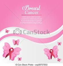 ribbon butterfly breast cancer design butterfly ribbon clipart