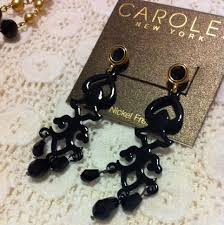 black chandelier earrings giveaway black chandelier earrings from carolee us ends 5 25