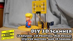 diy 3d scanner arduino 3d printing pcb design stepper motors