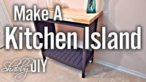 How To Build A Kitchen Island With Seating by How To Build A Simple Kitchen Island Youtube