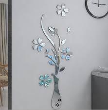 Acrylic Flower Vases Aliexpress Com Buy Mirror Flower Vase 3d Crystal Acrylic Three
