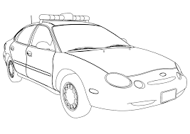 printable car coloring pages police car coloring pages police car