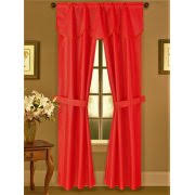 Chocolate Curtains With Valance Curtains With Attached Valances