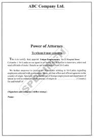 power of attorney letter best business template