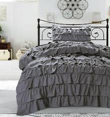 Single Duvet Covers And Matching Curtains Bedding Set Grey Ruffle Bedding Thrilling Grey Ruffle Bedding