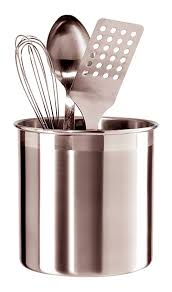 kitchen utensil canister amazon com oggi 7211 jumbo stainless steel utensil holder kitchen