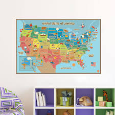 United States Map Art by Compare Prices On State Wall Maps Online Shopping Buy Low Price