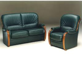 canape cuir et bois acheter votre fauteuil fixe option relax manuel ou électrique chez