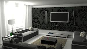 Beautiful Modern  Decorating Ideas In Black And White Living - Black and white living room decor