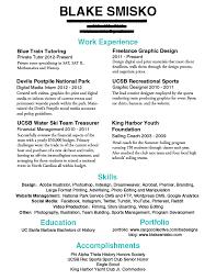Resume Update Resumes And Portfolios U2013 Blake Smisko