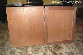 Kitchen Cabinet Door Refinishing Diy Cabinet Door Resurfacing Using Strips Of Underlayment I