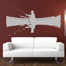 fishing man boat fishing sports and hobbies wall art stickers click on the image below to get zoomed view of the item