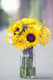 table centerpieces with sunflowers rustic table decor with sunflowers and mason jars from sunflower