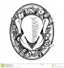 roasted turkey vector illustration stock vector image 59212274