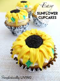 easy sunflower cupcakes with homemade frosting simplistically living