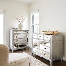 White And Mirrored Bedroom Furniture Hayworth Mirrored Silver Chest U0026 Dresser Bedroom Set Pier 1 Imports