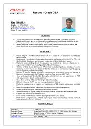 Dba Sample Resume by Ijaz Oracle Dba Resume Updated